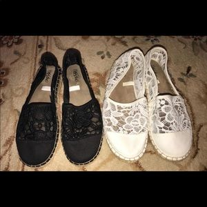 Mossimo espadrille two pairs size 6